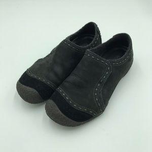 Merrell 7.5 black slip on shoes